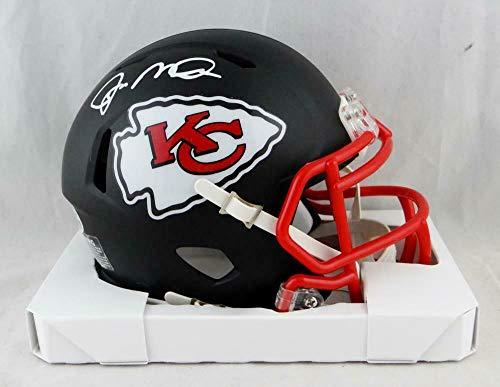Joe Montana Signed Mini Helmet - Flat Black Beckett Auth *White - Beckett Authentication - Autographed NFL Mini Helmets