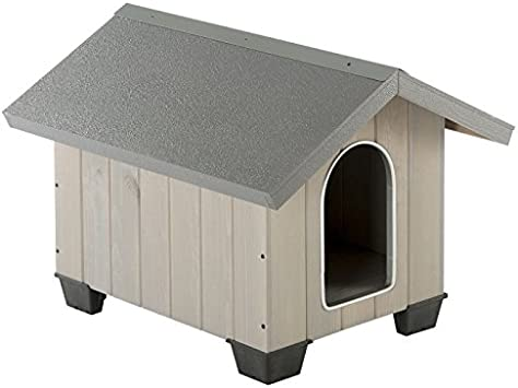 Robust, Comfortable Medium Pinewood Dog Kennel, Coated In Weather Resistant  Lacquer, With Ventilation Grilles, Elegant, Removable