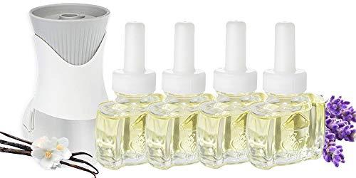 (4 Pack) Scent Fill® Vanilla Lavender Plug in Refills and (1) Air Wick® PlugIn Warmer