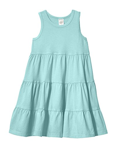 City Threads Big Girls' Super Soft Cotton Tank Tiered Dress For School Park Play and Party, Wave, 8]()