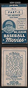 1938 Goudey baseball movies (Baseball) Card# 11 Joe Medwick (part -2) of the St. Louis Cardinals VG Condition