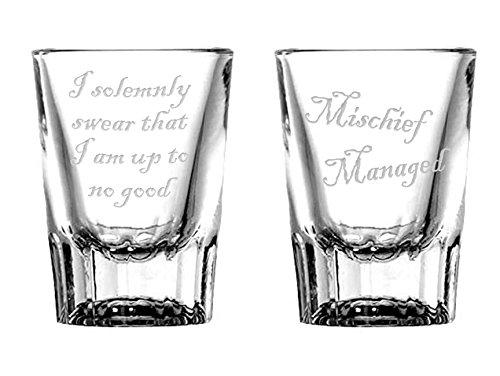 National Etching Mischief Managed Shot Glass Set