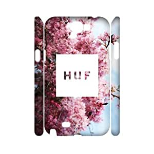 Hjqi - DIY HUF 3D Cover Case, HUF Customized Case for Samsung Galaxy Note 2 N7100