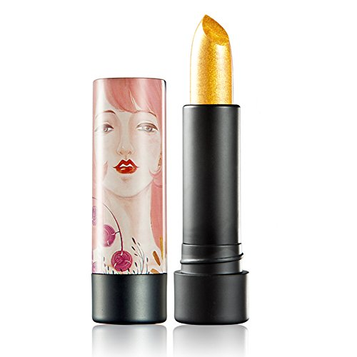 HML Gold Light Pearl Lipstick Waterproof Long-lasting 12 Color Lipstick for Choice Beauty Lip Cosmetics 3.8g (06# Ryukin)