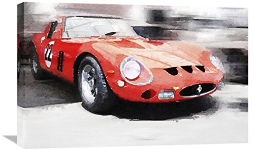 "Naxart Studio ""1962 Ferrari 250 GTO Watercolor"" Giclee on Canvas, 30"" x 1.5"" x 20"" from Naxart Studio"