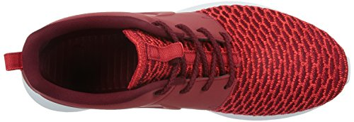 Nike Men's Roshe Nm Flyknit PRM Running Shoes, Blue, 9.5 UK Red / White (Gym Rd/Gym Rd-tm Rd-bright Crms)