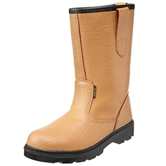 Worksite Men's SS403SM Safety Boots Tan 11 UK
