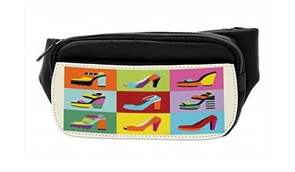 482e01ec0cd6 Amazon.com | Lunarable Fashion Bumbag, Retro Funky Stiletto Heels ...