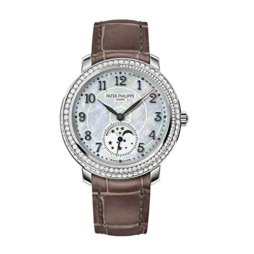 Patek-Philippe-Complications-Mother-of-Pearl-Dial-Taupe-Leather-Ladies-Watch-4968G-010