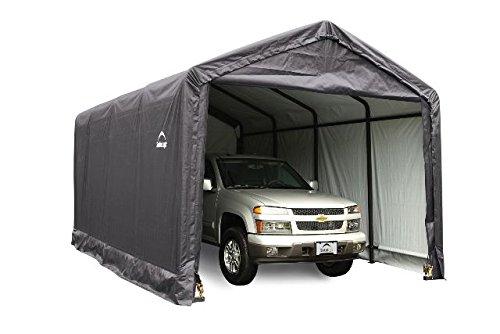 12x20x11 Shelter Tube Storage Shelter (Gray Cover) by ShelterLogic