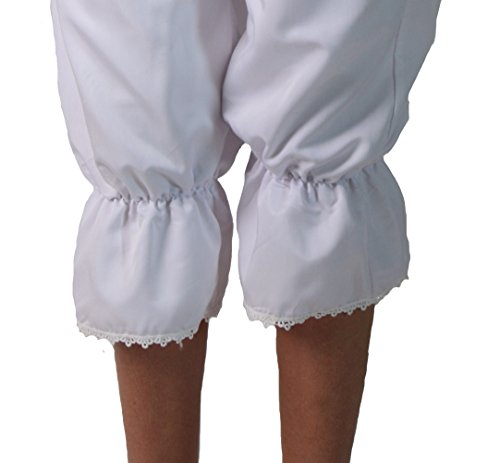 Making Believe Girls/Women's Basic Pioneer Peasant Costume Bloomers (Women's Medium 6/8, White) by Making Believe (Image #3)