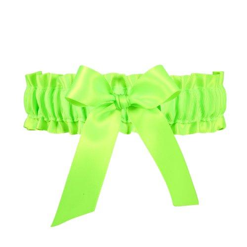 (Ivy Lane Design Neon Wedding Garter, Lime Green )