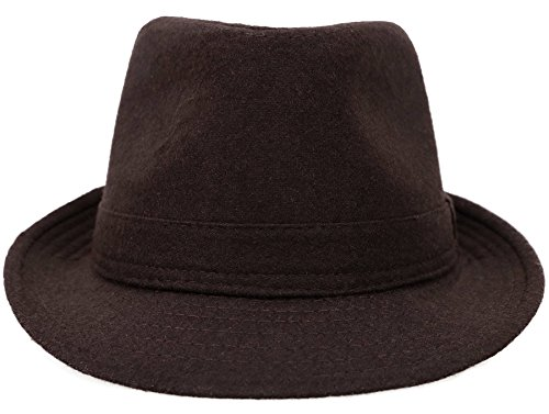 Simplicity Unisex Fedora Hats for Women Manhattan Fedora Hat, Brown by Simplicity (Image #5)