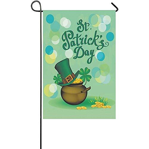 St. Patrick s Day Clover Polyester Garden Flag Banner 12 x 1