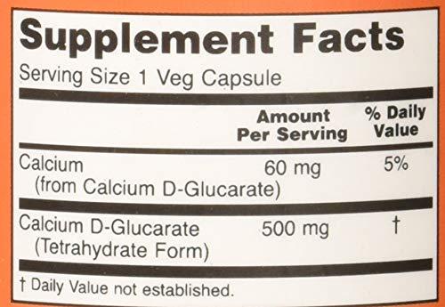 Amazon Com Now Calcium D Glucarate 500 Mg 90 Veg Capsules Health