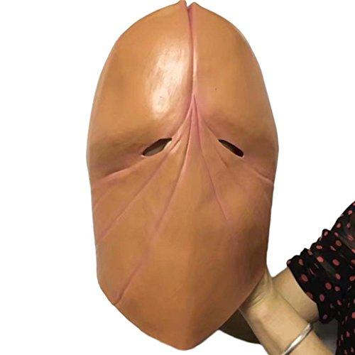 NXDA Demon Full Head Latex Mask with Hair Horror Novelty for Halloween Costume Party Decorations (Demon)