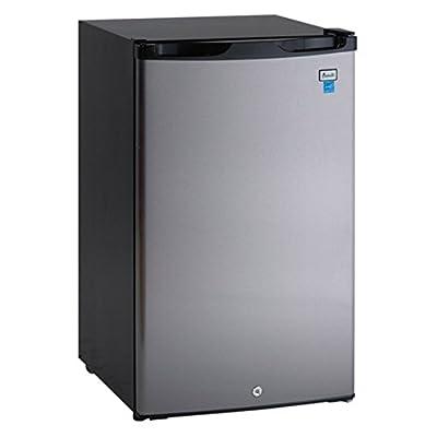 Avanti AR4456SS 4.4 cu. ft. Counterhigh Refrigerator - Black with Stainless Steel Door
