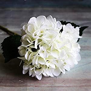 GSD2FF Artificial Flowers 1PC Hydrangea Bouquet for Home Decoration Flower Arrangements Wedding Party Decor,White,United States 51