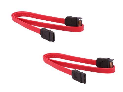 Kalea Informatique - Juego de 2 cables de transmisió n de datos SATA (macho/hembra, 50 cm) KALEA-INFORMATIQUE