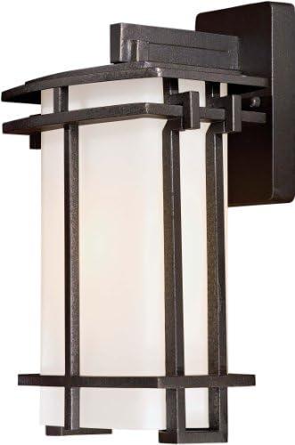 Minka Lavery Outdoor Wall Light 8101-A138-L Kirkham Aluminum Dark Sky Exterior LED Wall Lantern, Bronze