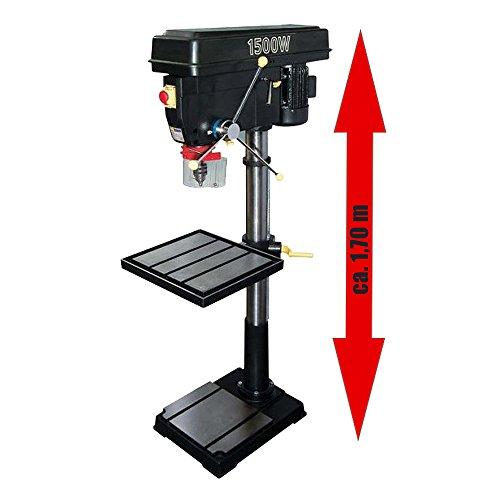 NuTool PROFI Säulenbohrmaschine NBD1500 1500 Watt 400 Volt mit 12 Gängen (Höhe: 170 cm)