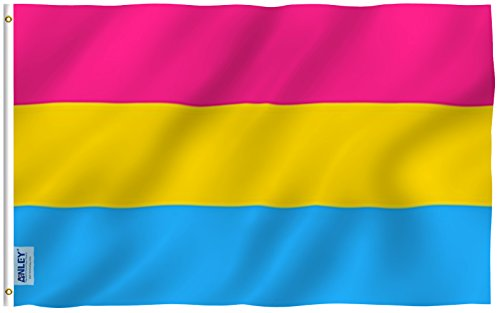 Anley Fly Breeze 3x5 Foot Pansexual Pride Flag - Vivid Color