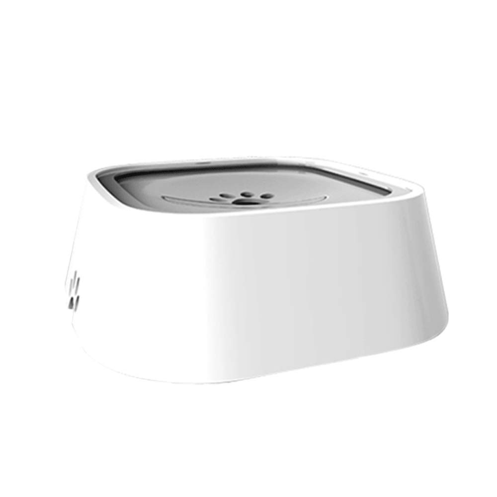 C Dog Water Bowl Non Spill Dispenser for Pet Cat Drinking Fountain Floating AntiDust  1.5L (bluee White Grey Pink),D