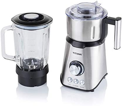 Blender 1000W 1.5L Glass Jug Smoothie Maker Coffee Grinder Ice Crusher Juicer Dry Food Grinder | Warm and Cold Food (up to 50°c) from Vitinni