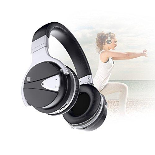 USTEK Wireless Headphones, Active Noise Cancelling Headphones Bluetooth Headphones with Mic Deep Bass Wireless Headphones,Over Ear Bluetooth Stereo Headphones with Microphone Adjustable Earphones ANC by USTEK (Image #6)
