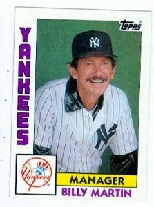 Amazoncom Billy Martin Baseball Card 1984 Topps 81 New
