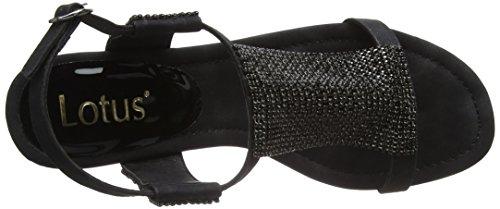 Lotus Damen Klaudia Peep-Toe Black (Black/Diamante)