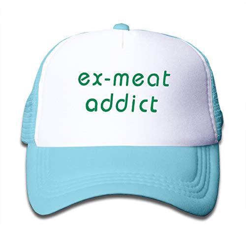- EANTE Kids Baseball Caps-Ex-Meat Addict Trucker Hats for Boys Girls,Adjustable Washable Snapback Cap