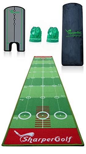 "SharperGolf 10' x 20"" Premium Indoor Putting Mat with Putting"