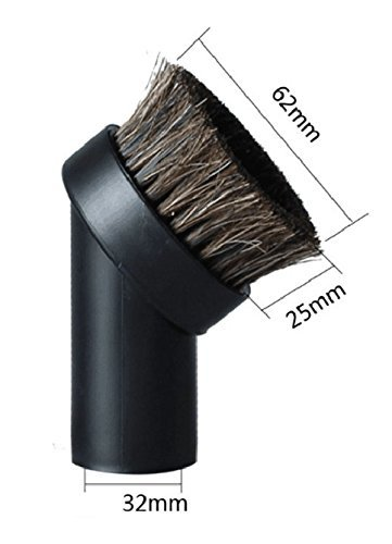 Replacement Round Dusting Brush Soft Horsehair Bristle Vacuum Attachment 1.25