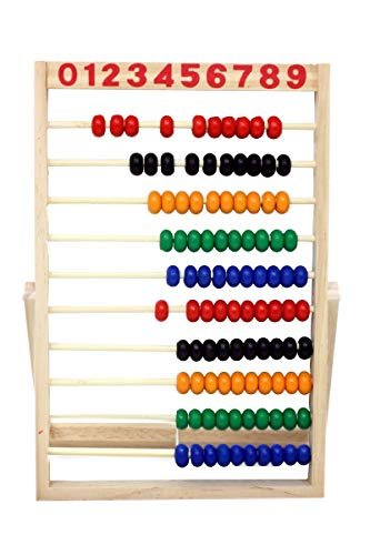 - Bullahshah Wooden Abacus Beads Rainbow Colours Educational Toys Preschool Math Learning Counting Frames Toy