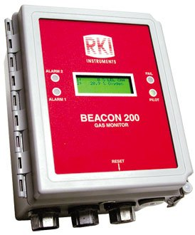 Beacon 200, two channel controller, 115 VAC (no sensors) by RKI Instruments