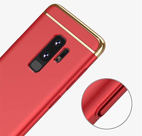 Cadre Anti-Rayures Anti-Rayures 3 en 1 Electroplate avec Surface enduite Coque Excellente Grip Coque Samsung Galaxy S9//S9 Plus S9, Bleu