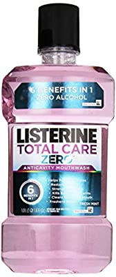 Listerine Total Care Zero Anticavity Mouthwash, Fresh Mint, 1 L