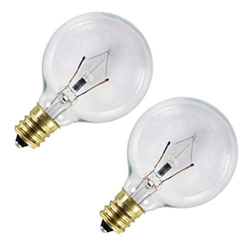 1/2 Clear Globe Lamp (G12-1/2 Bulb 20w Clr 2pk)