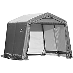 ShelterLogic Shed-in-a-Box, Grey, 10 x 10 x 8 ft.