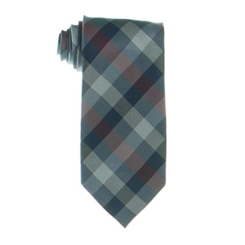 Ryan Seacrest Mens Glendale Silk Gingham Neck Tie Red - Mall La Glendale