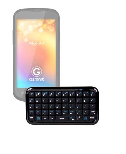 DURAGADGET Sleek Portable Wireless Mini Keyboard with Wireless Technology for Gigabyte Gsmart Aku A1 / Tuku T2 / Rio R1 / Maya M1 V2 / Maya M1