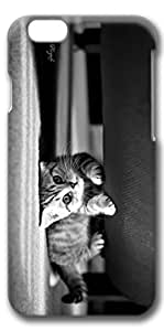 iPhone 6 Plus Case, Customized Slim Protective Hard 3D Case Cover for Apple iPhone 6 Plus(5.5 inch)- Black Cat