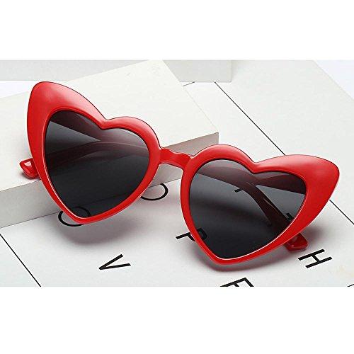 Uv400 Cadre nbsp;noir Taille Hd De Plastique Aolvo Femme Léger C6 Lunettes Miroir Pour Soleil Rétro C5 Unique Mignon Forme fille En Cœur Eyewear v7TUR5q7