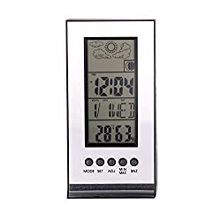 UEB Indoor Outdoor Wireless Weather Station Alarm Clock Snooze ForecastCalendar