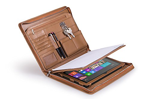 Deluxe Organizer Padfolio for Letter A4 Paper and Microsoft Surface Pro 2