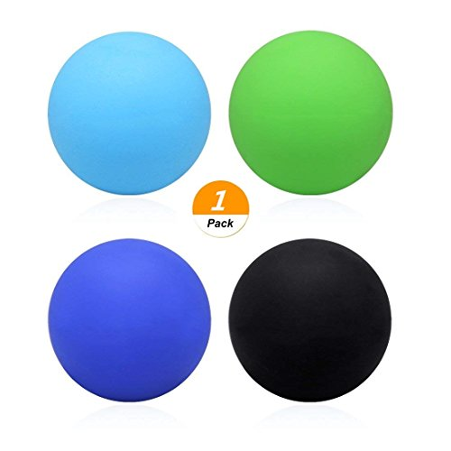 SelfTek 1Pc Lacrosse Ball for Body Relaxation Physiotherapy and Crossfit Random Color
