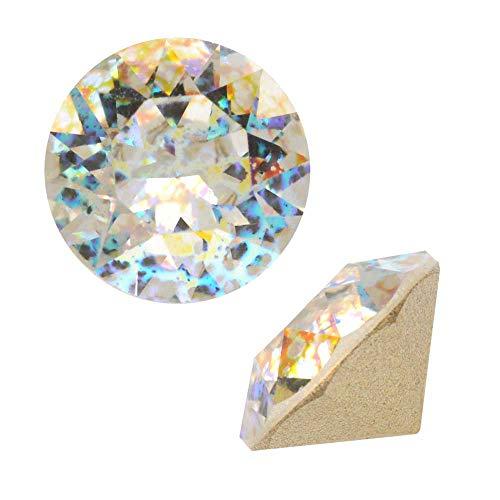 514febacd Swarovski Crystal, 1088 Xirius Round Stone Chatons ss39, 6 Pieces, Crystal  White Patina