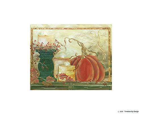 'Autumn Lights' Decorative Tempered Glass Cutting Board for Kitchen Non-Slip   Stain-Shatter Resistant Carving Board 11 X 15 X 1/4 Inches   TIMELESS BY DESIGN