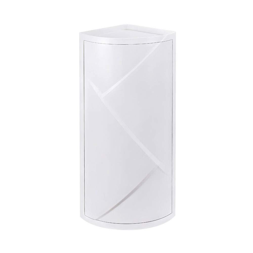 Mx Bathroom Shelf Bathroom Vanity Triangle Storage Rack Floor Locker Corner Suction Cup Storage Cabinet Suction Wall (Color : White)